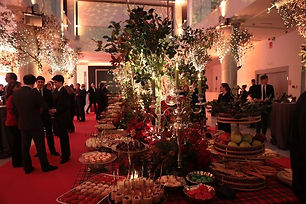 espacio para cena de gala