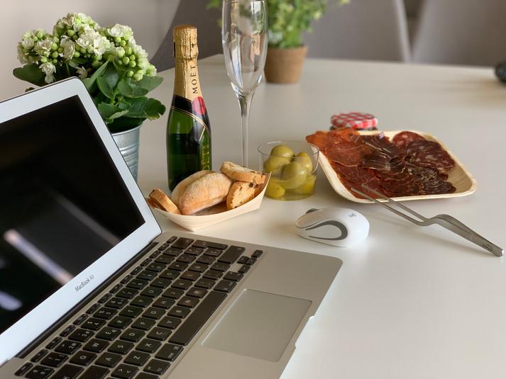 Cajas de aperitivo y desayunos a domicilio para empresas (Servicio en toda España) Sedes en Madrid, Barcelona y Canarias