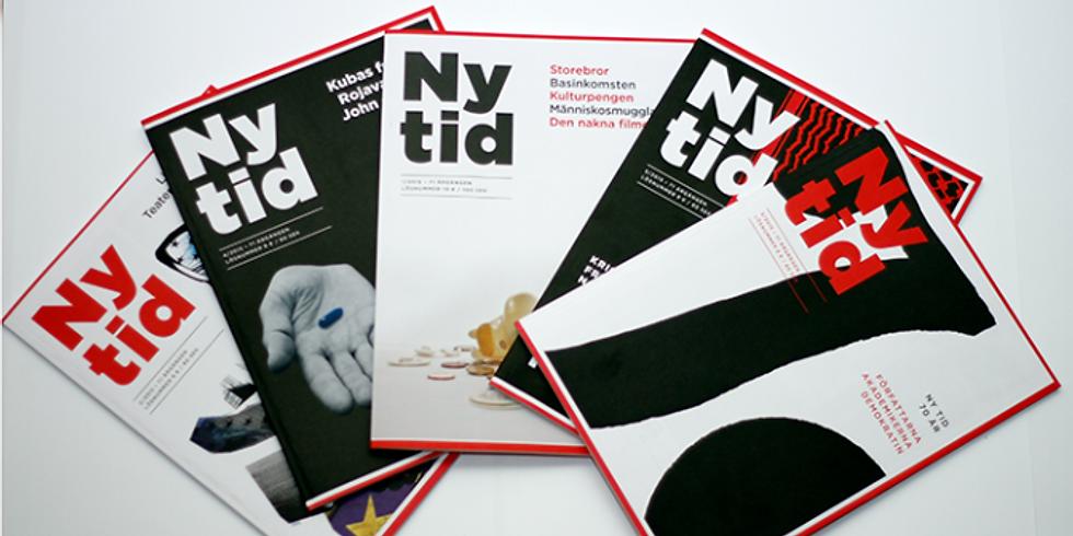 Besök till Ny Tids redaktion / Visit to Ny Tids office