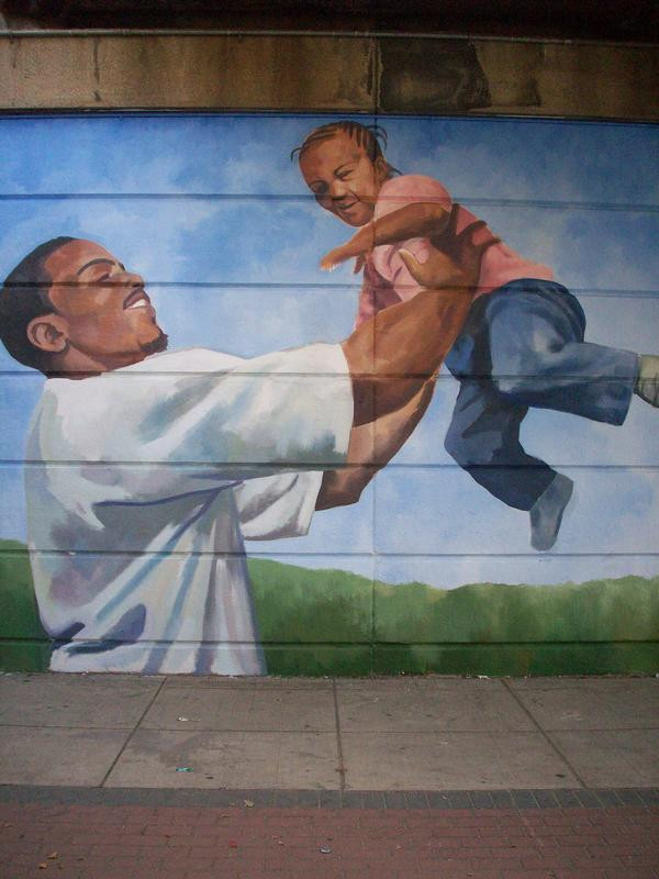 Father's Day Mural, Detail