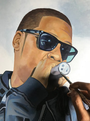 Detail, Commission Painting, Jay-Z