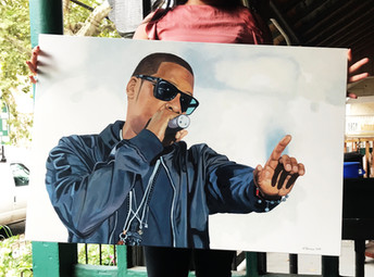 Commission Painting, Jay-Z