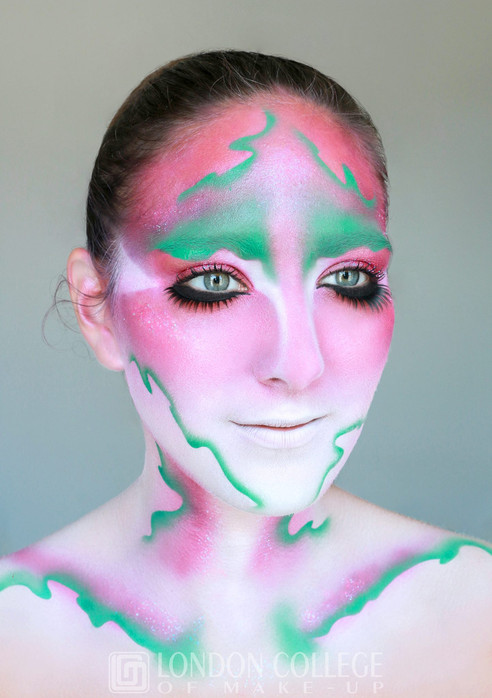 Airbrush Avant Garde make-up
