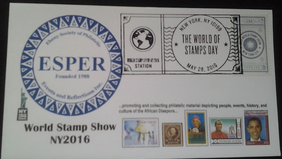 World Stamp Show ESPER cover 2016