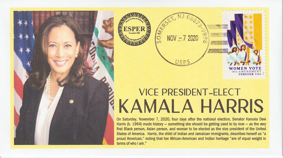 "Vice President- Elect Kamala Harris ""Exclusive to ESPER"""