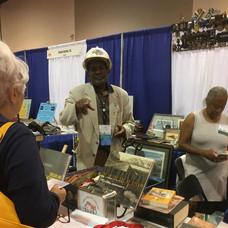ESPER member Edgar Hicks of Omaha at his booth.