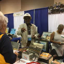 ESPER member Edgar Hicks of Omaha at his booth.