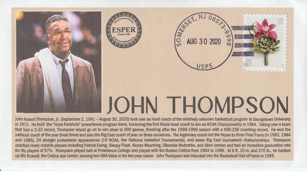 John Thompson Memorial Cover