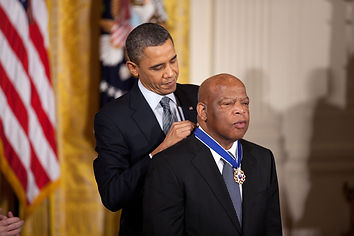 John Lewis receiving medal of Freedom fo