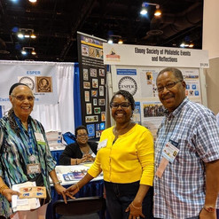 From left to right: ESPER member Betty Lewis of Chicago, (seated) ESPER's President Warachal E. Faison of New Jersey, Board Member Charlene Blair of Illinois, and Editor of Reflections Don Neal of New Jersey.