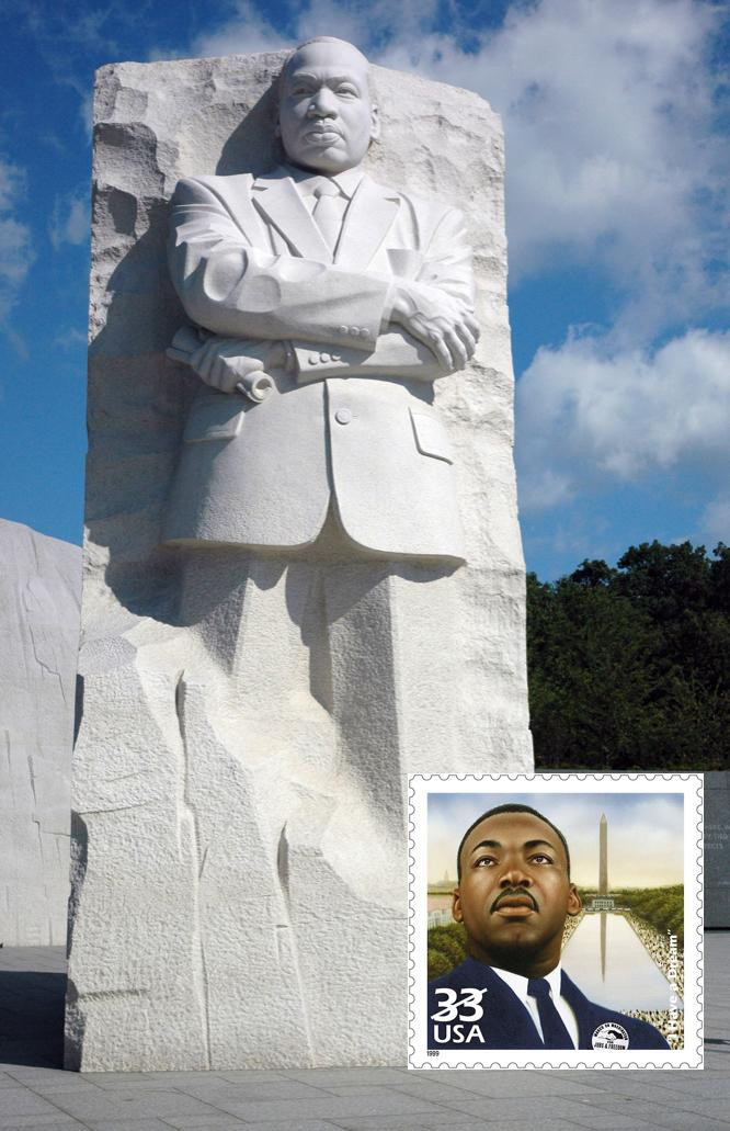 MLK Jr. Statue at his monument