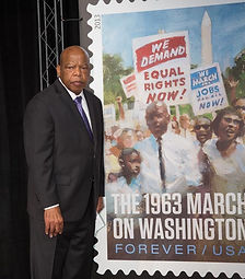 John Lewis with stamp.JPG
