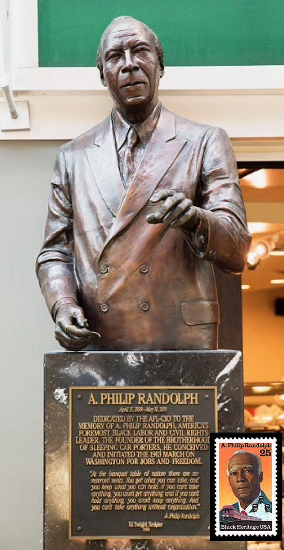 A. Philip Randoph statue at train station