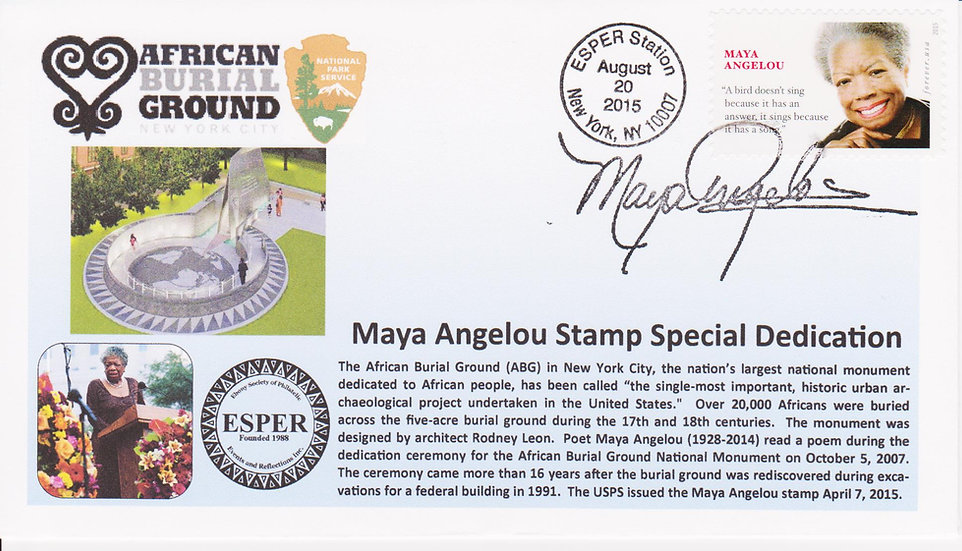 Dr. Maya Angelou Cachet