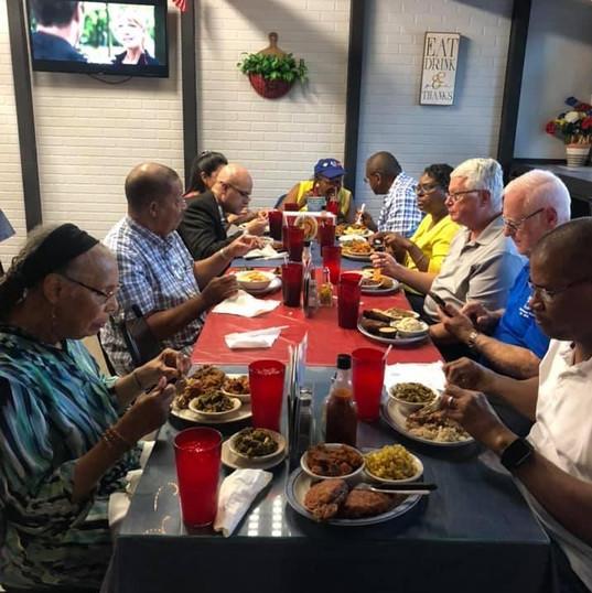 ESPER members at dinner