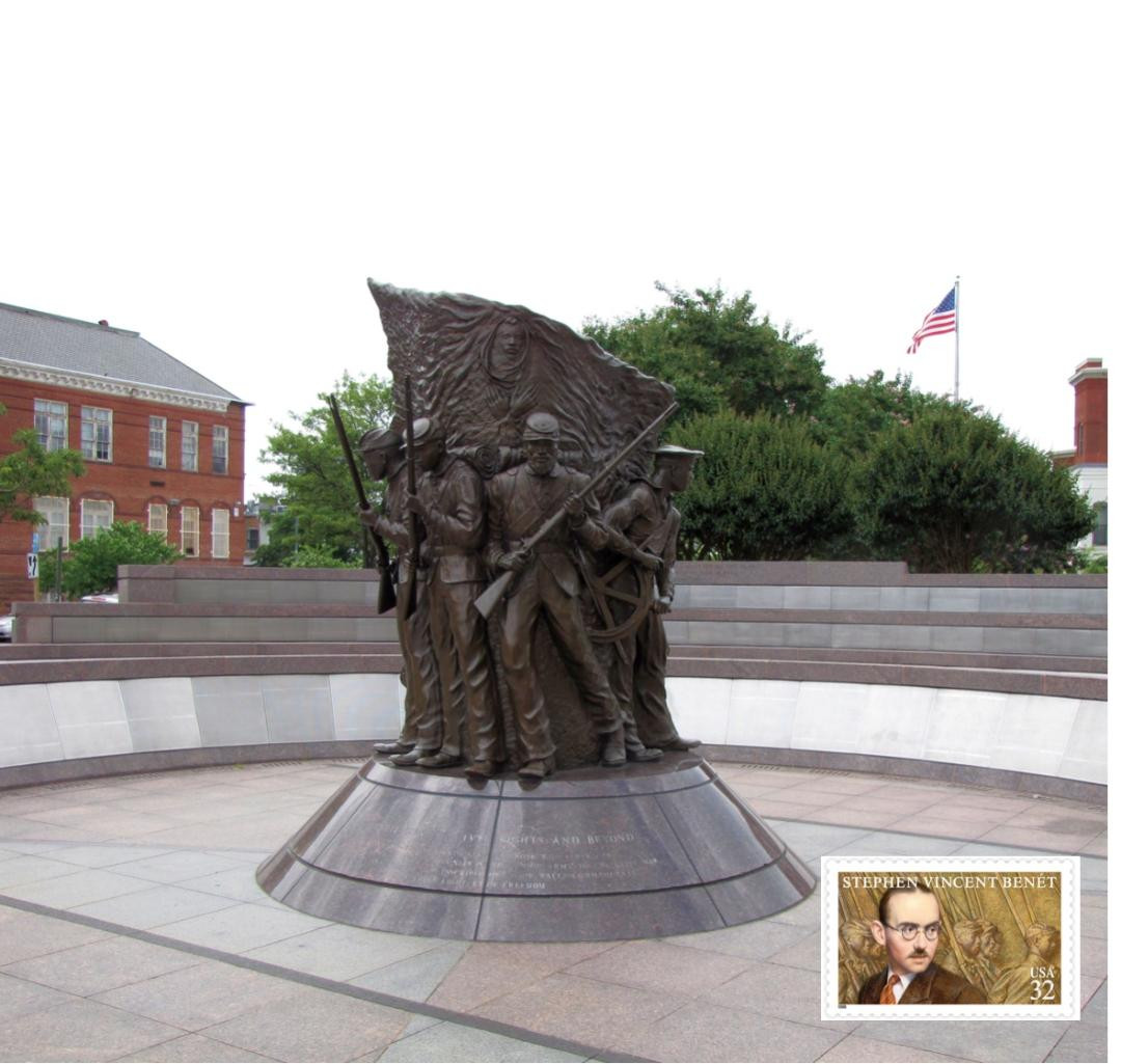Statue at Civil War Musium
