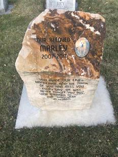 Boulder Pet Memorial Stone