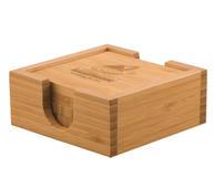 Quick Trophy Square Bamboo Coaster Set.j