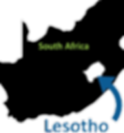 Kingston Grandmothr Connection's map of Lesotho