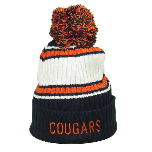 COUGARS STOCKING CAP WITH COUGARS EMBROIDERED
