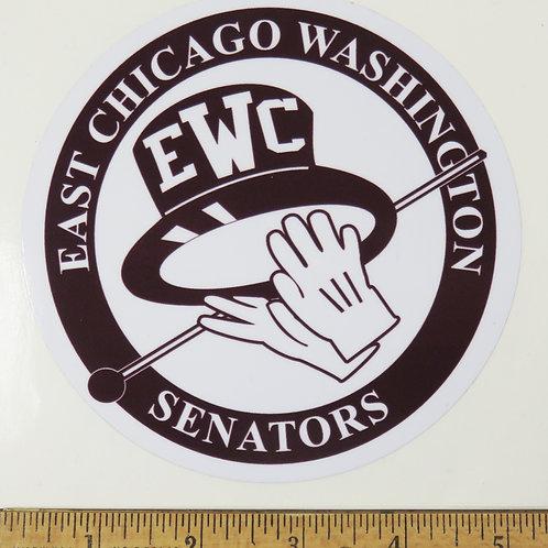 E.C. WASHINGTON SENATORS DECAL
