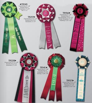 Awards  8 Custom Rosette Ribbons Tower.j