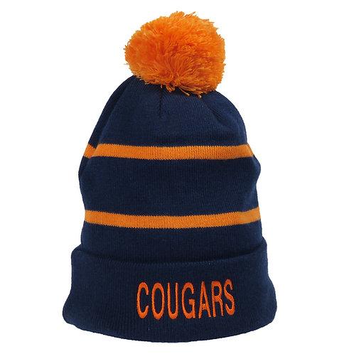 COUGARS STRIPED STOCKING CAP