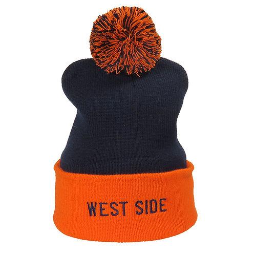 WEST SIDE ORANGE & BLUE STOCKING CAP