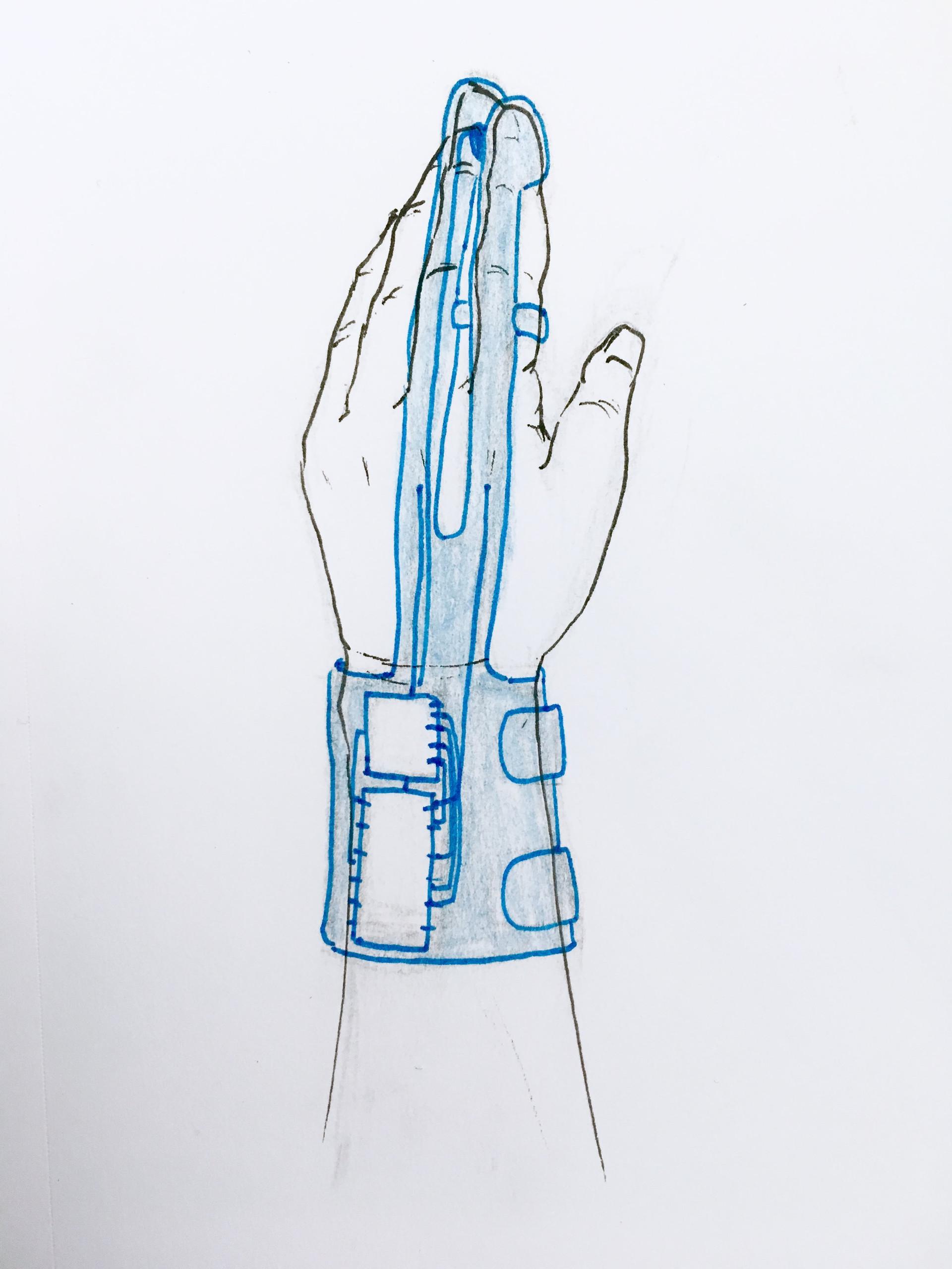 Initial glove design