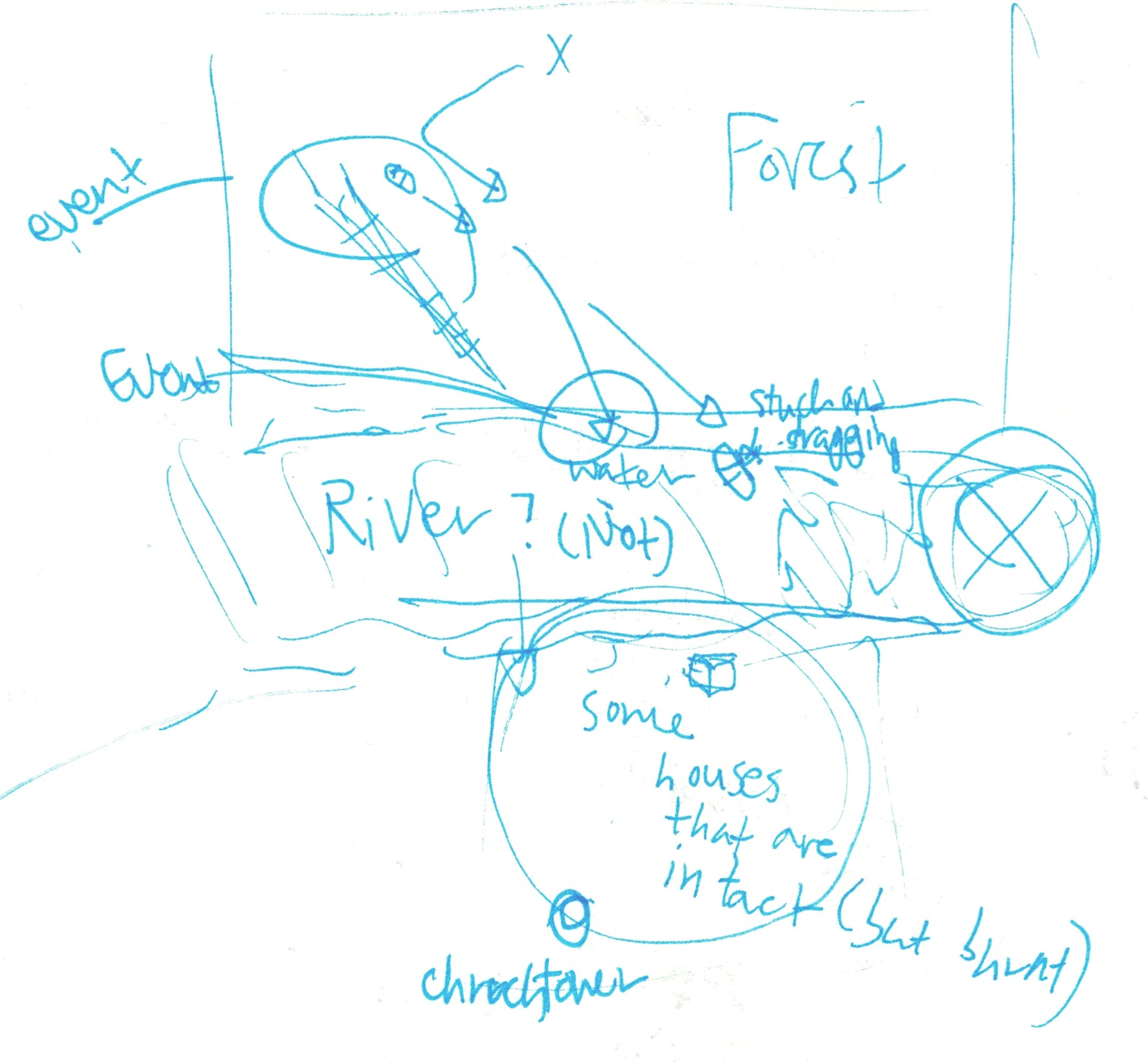 Rough map layout