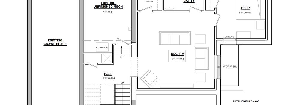 Monticello floor plan - basement