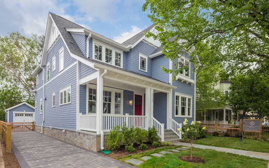 Windmill Hill: Color Meets Classic Side Elevation