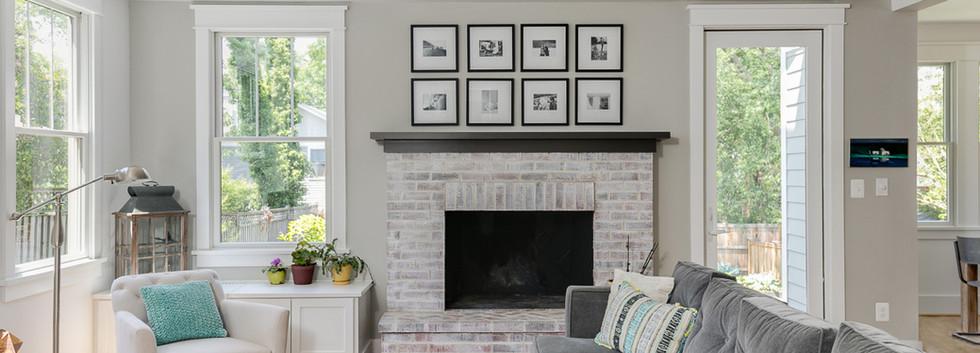 Windmill Hill: Modernized Bugalow Living Room