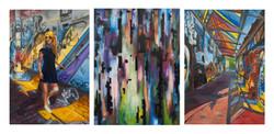 Graffiti Alley Triptych