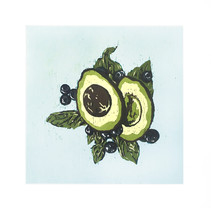 Avacado, Blueberries and Basil