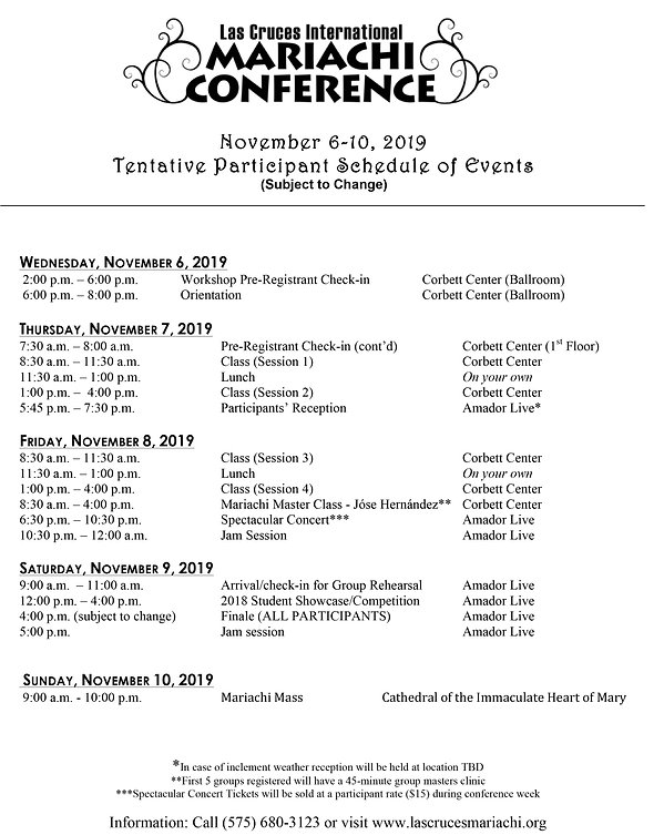 Participant Schedule of Events 2019.jpg