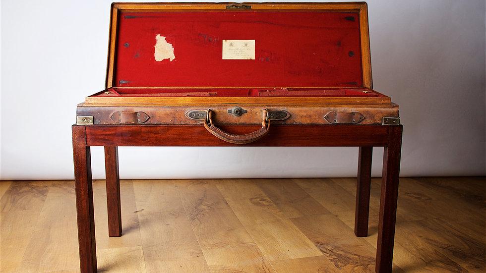 James Purdey & Sons oak & brass mounted gun case