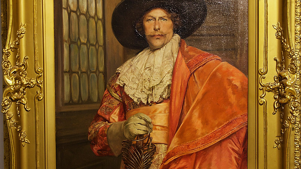 Cavalier oil on canvas portrait by Alex de Andreis