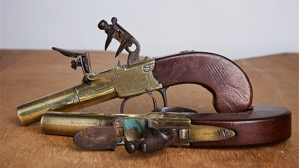 Pair of 18th century pistols by John Twigg