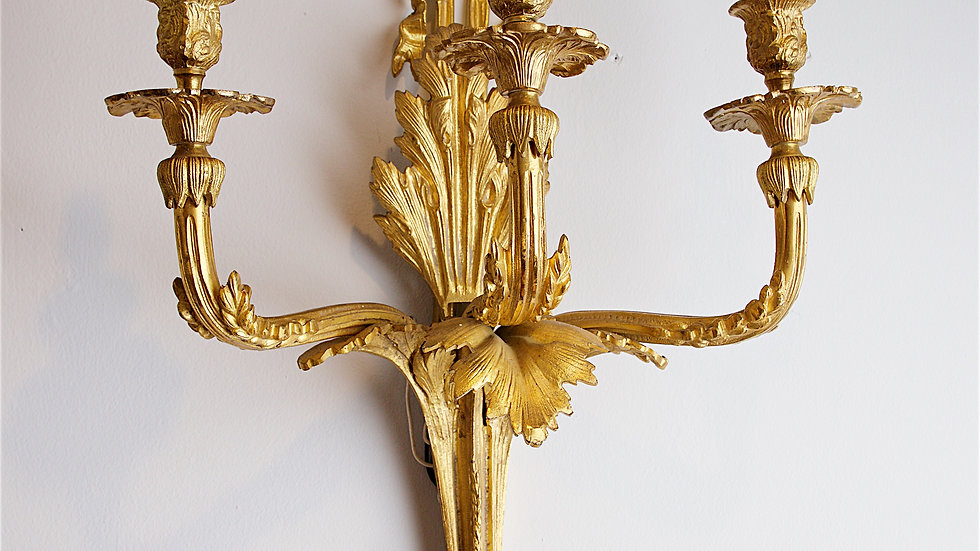Pair of Ormolu wall-mounted candelabra.