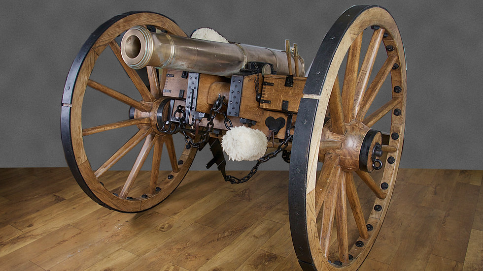 Bronze 9 pounder cannon from the battle of Waterloo