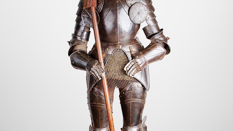 Full suit of Gothic style Armour