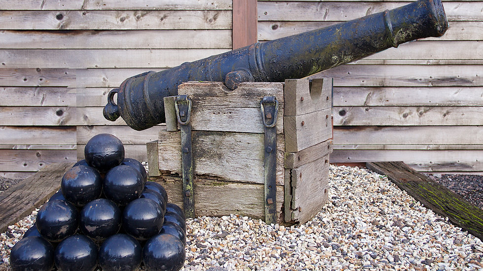 9 - pounder iron ships cannon - english