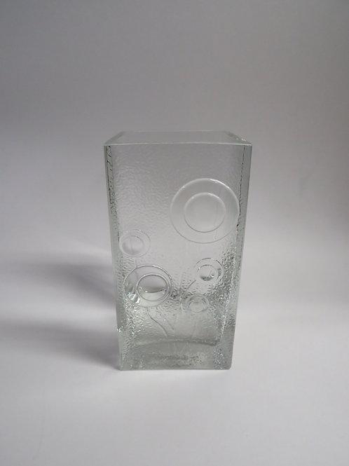 A mid century pressed glass vase