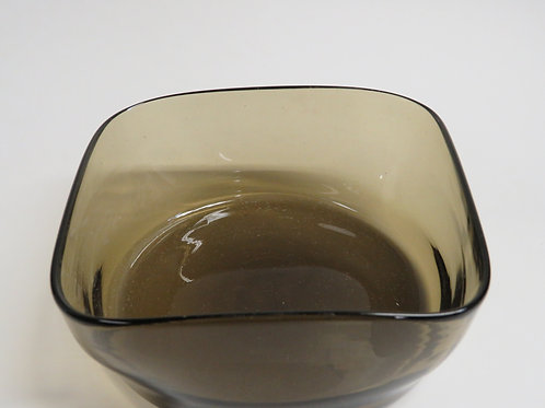 A mid century smoked glass dish probably German