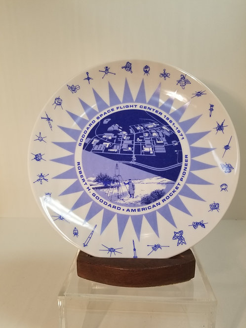 Goddard space flight center commemorative plate