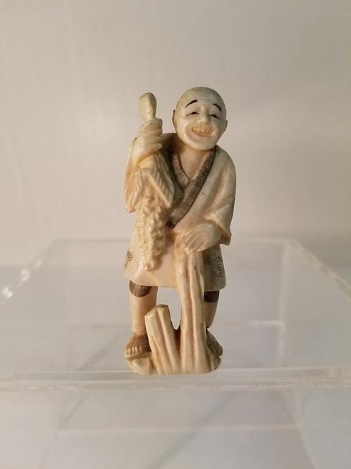 19th century Japanese ivory okimono