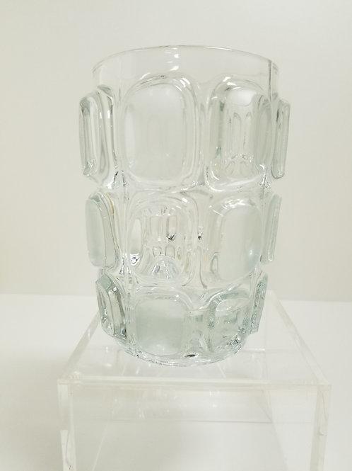 A mid century glass vase