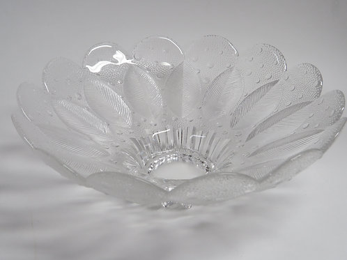 A mid century pressed glass deep bowl