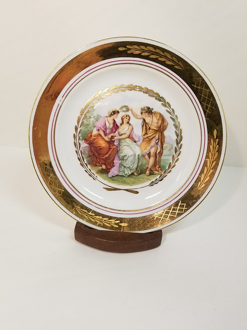 Royal Copenhagen porcelain plate with classical scene